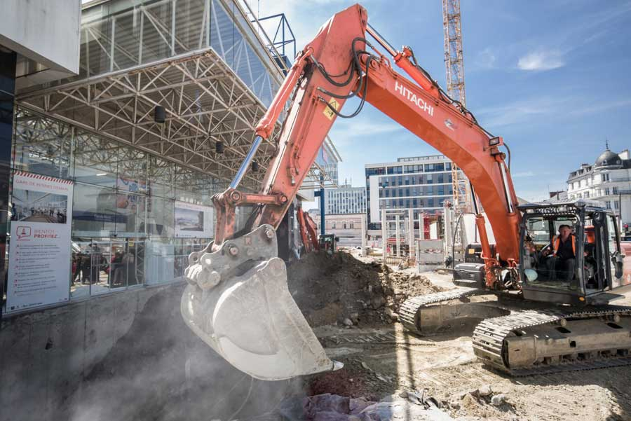 Eurorennes, chantier gare de Rennes